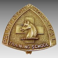 Rare 10k Gold Palmerton Hospital Training School for Nurses Nursing
