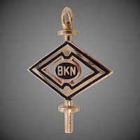 10k Gold Eta Kappa Nu Fraternity Key Charm Electrical & Computer Engineering