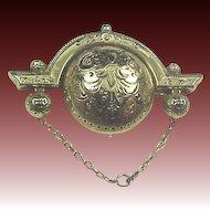 10k Gold Victorian Taille deEperne Enamel Watch Pin