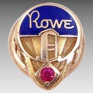 14k Gold Rowe Ami Jukebox Service Pin