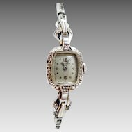 14k White Gold Ladies Longines Diamond Watch