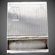 Vintage Sterling Silver Match Safe