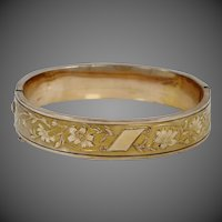 1930s Gold Filled Bangle Bracelet