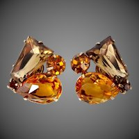 Juliana Shades of Topaz Keystone & Pear Shaped Earrings
