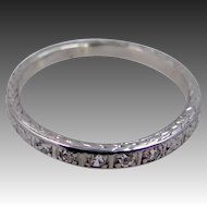 1930's Platinum & Diamonds Eternity Band Size 6 1/4
