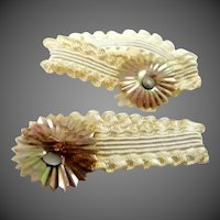 Pair 1920's Celluloid Lacy Doll Garter Belts