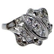 1930's Platinum & Diamonds Size 6 Ladies Ring