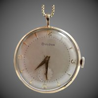 Vintage 17 Jewels Bulova Pendant Watch