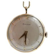 Vintage 17 Jewels Bulova Pendant Watch
