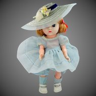 1950s Cosmopolitan Ginger Doll Blue Dress Tagged Outfit