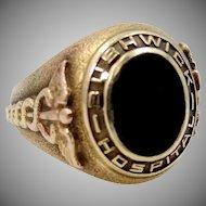 10k Gold 1943 Bushwick Hospital Jewett Training School for Nurses Ring
