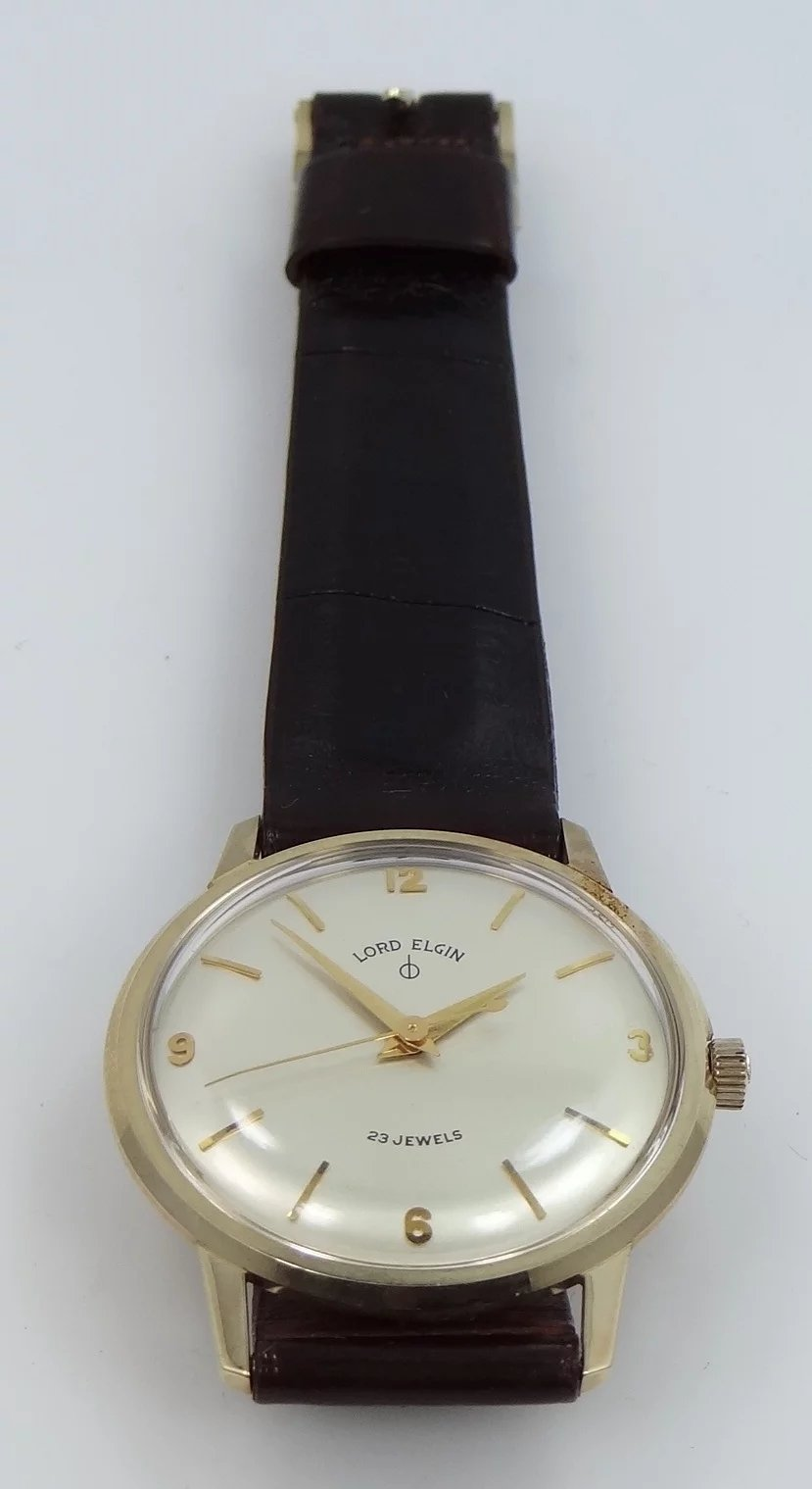 Man 39 s 10k gold 23j lord elgin watch ford motor company for Ford motor company 10k report