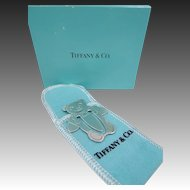 Tiffany & Co. Sterling Silver Bear Bookmark Mint in Box & Pouch