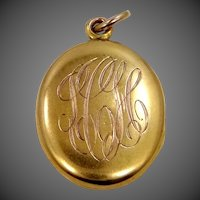 10k Gold Victorian Locket
