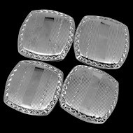 10k White Gold Art Deco Cufflinks Cuff Links