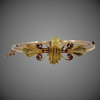 9k Gold & Gold Filled Victorian Bangle Bracelet