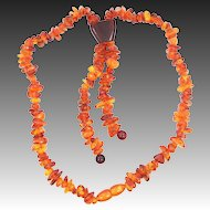 Vintage Baltic Amber Necklace Some Egg Yolk Beads