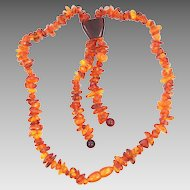 Vintage Baltic Amber Necklace Some Egg Yolk Beads