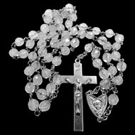 Art Nouveau Angel Sterling and Crystal Rosary