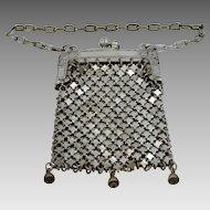 Victorian Nickel Silver Mesh Doll Purse