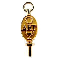 10k Gold Delta Kappa Gamma Sorority Pin 1930's