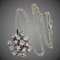 3tcw Diamonds 14k White Gold Necklace