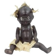 """4"""" Five Piece Bisque Black Baby Doll with Pigtail Tufts"""