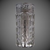 Heisey with Sterling Silver Overlay Water Glass