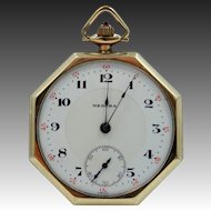 Vintage 8 Sided Medora Pocket Watch Running Condition