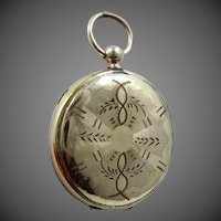 Victorian Gold Fld. Locket Looks Like a Pocket Watch