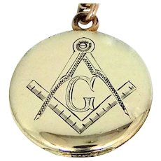 Vintage Masonic Locket and Chain