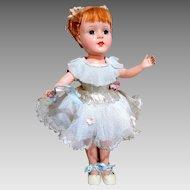 "14"" American Character Ballerina Doll Hard Plastic"