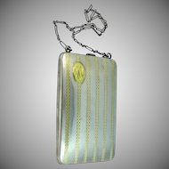 14k Gold on Sterling Elgin American Chatelaine Purse