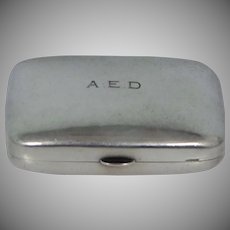 Georg Jensen Sterling Silver Mid Century Snuff Box