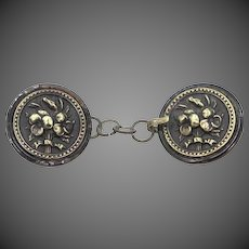 Victorian Pansy Cape Buckle