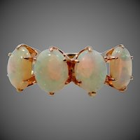 Late Victorian 14k Gold & Large Opals Lady's Ring