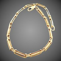14k Gold Unusual Solid Gold Links Bracelet