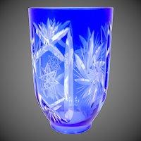 Gorgeous Cobalt Blue Cut to Clear Glass Shade