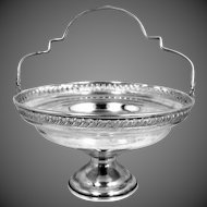 Pretty Sterling Silver El Sil Co Handled Compote