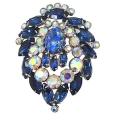 Juliana D&E Delizza Elster Blue Cat's Eye Pin