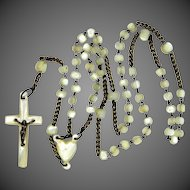 19th Century Small Mother of Pearl Rosary