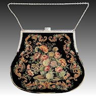 Sterling and Enamel Petit Point Austrian Purse