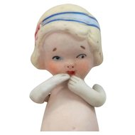 Cute Nippon Bisque Flapper Doll with Poseable Arms