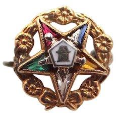 Vintage 10k Top Order of the Eastern Star Pin