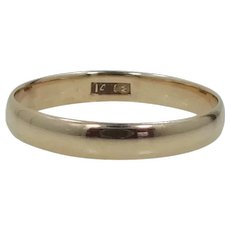 Victorian 14k Solid Gold Size 11 Wedding Band Stacking Ring