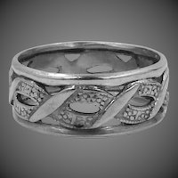 Sterling Silver Celtic Knot / Eternity Band Size 8 Wide Band Ring