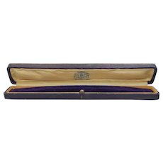 Victorian Satin and Purple Velvet Interior Presentation Bracelet Box
