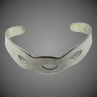 Nice Solid Sterling Silver Mexico Cuff Bracelet