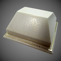 Vintage White & Gold Hard Plastic Jewelers Display Box