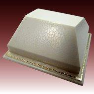 Vintage White & Gold Hard Plastic Jewelers Display Box